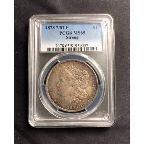 1878 7/8TF Strong    PCGS MS-65