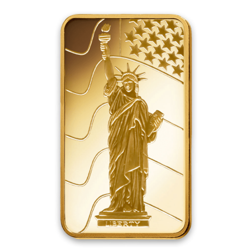 1g PAMP Gold Bar - Liberty