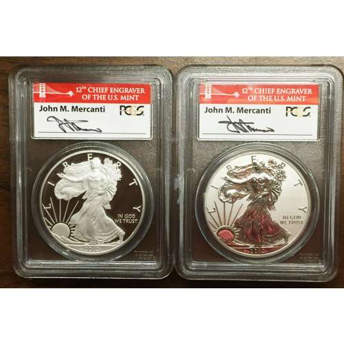 2012-S SET - Proof and Reverse Proof  PCGS PR-70