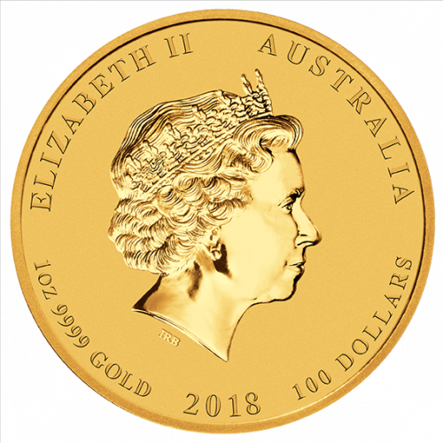 2018 Australian Perth Mint  Year of the Dog Gold Coin