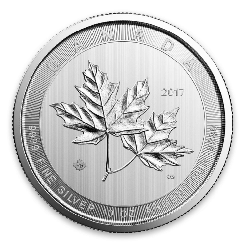 Any Year 10oz Canadian Silver Magnificent Maple Leaves