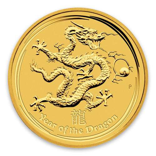 2012 10oz Australian Perth Mint Gold Lunar II: Year of the Dragon