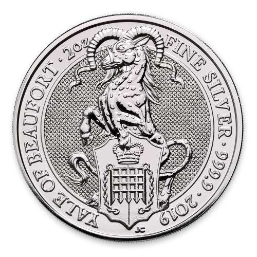 2019 2oz Silver Britain Queen's Beast: The Yale of Beaufort