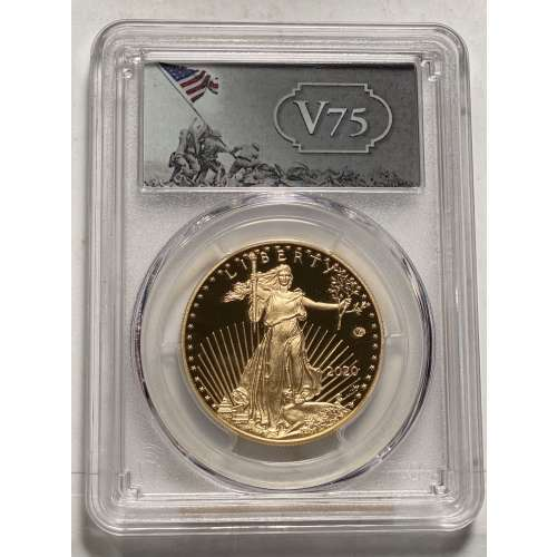 2020-W Gold Eagle - v75 Privy  First Day of Issue DCAM PCGS PR-70