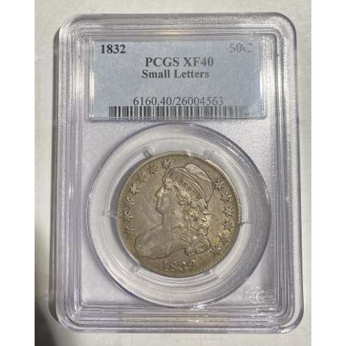 1832 Small Letters  PCGS XF-40