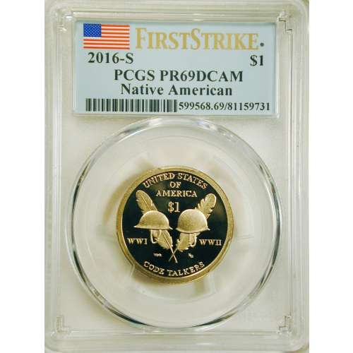 2016 Native American  First Strike DCAM PCGS PR-69