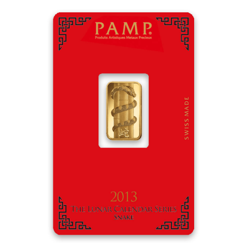 5g PAMP Gold Bar - Lunar Snake