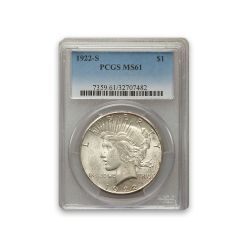 Peace Dollar (1922 - 1935) - PCGS - MS61