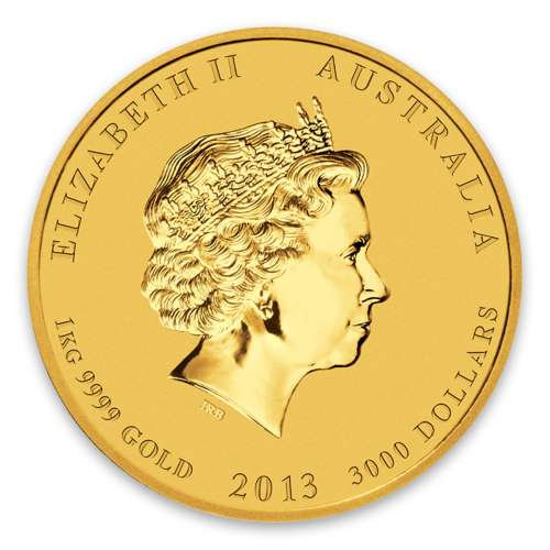 2013 1kg Australian Perth Mint Gold Lunar II: Year of the Snake
