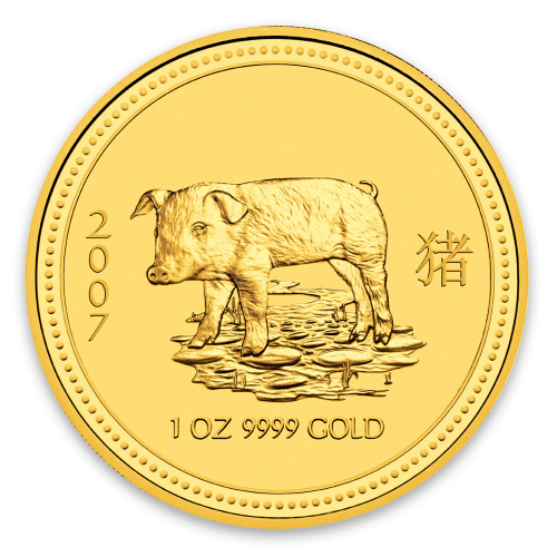 2007 1oz Australian Perth Mint Gold Lunar: Year of the Pig