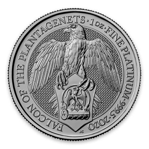 2020 Great Britain 1 oz Platinum Queen's Beasts The Falcon