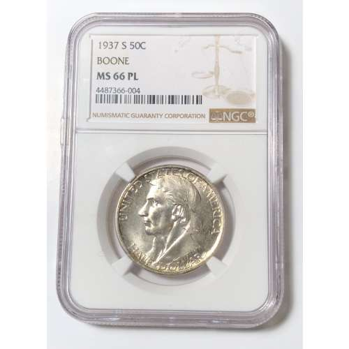 1937-S BOONE PL NGC MS-66