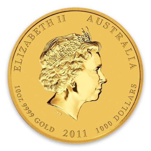 2011 10oz Australian Perth Mint Gold Lunar II: Year of the Rabbit