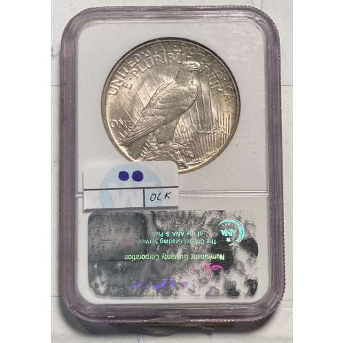 1921 HIGH RELIEF  NGC MS-62