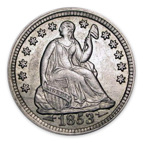 Liberty Seated Half Dime (1837 - 1873) - MS+
