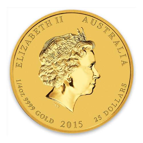 2015 1/4oz Australian Perth Mint Gold Lunar II: Year of the Goat