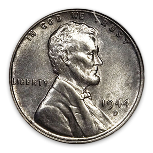 Cent - Lincoln Wheat Ear reverse STEEL -  Circulated