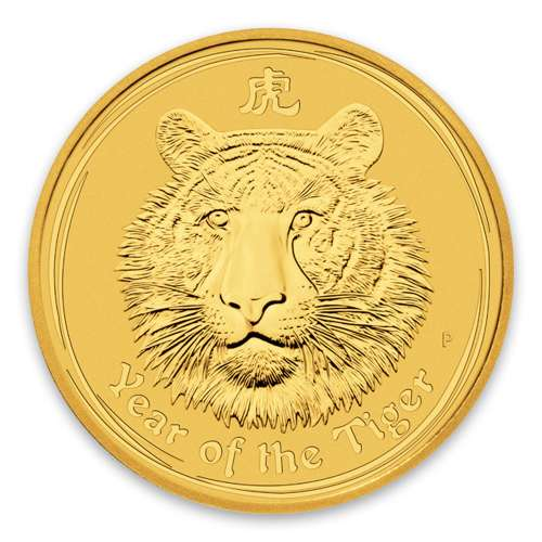2010 2oz Australian Perth Mint Gold Lunar II: Year of the Tiger