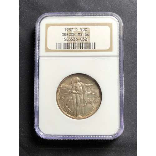 1937-D OREGON TRAIL  NGC MS-66
