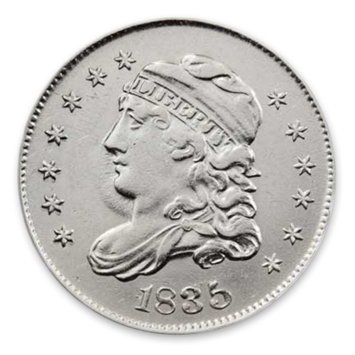 Capped Bust Half Dime (1829 - 1837) - MS+