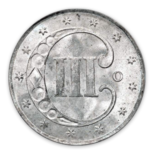 Three Cents (1851 - 1873) Silver - Circulated