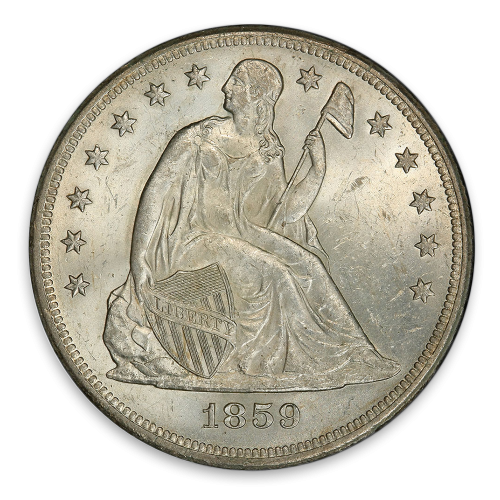 Liberty Seated Dollar (1836 - 1873) - Circ