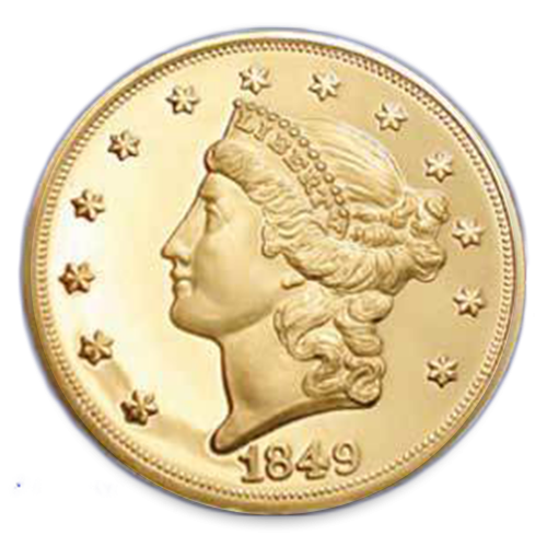 Liberty Head $20 (1849 - 1907) - Proof