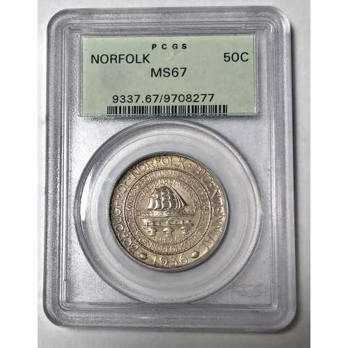 1936 Norfolk  PCGS MS-67