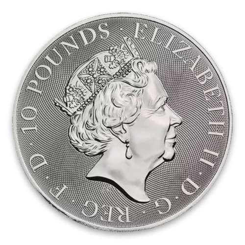 2021 10oz Britain Silver Queen's Beast : The Lion of Mortimer
