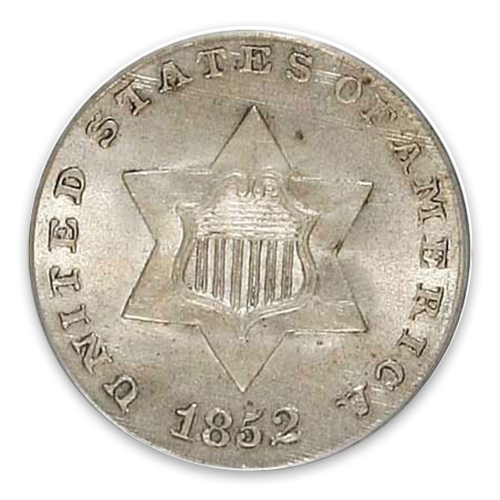 Three Cents (1851 - 1873) Silver - XF