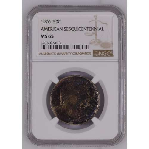 1926 AMERICAN SESQUICENTENNIAL  NGC MS-65