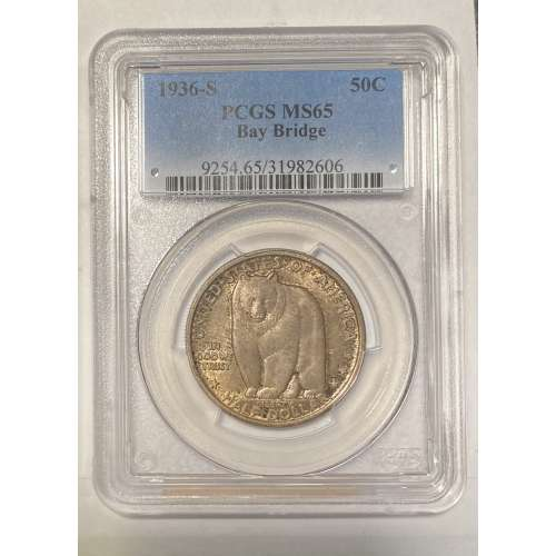 1936-S Bay Bridge  PCGS MS-65