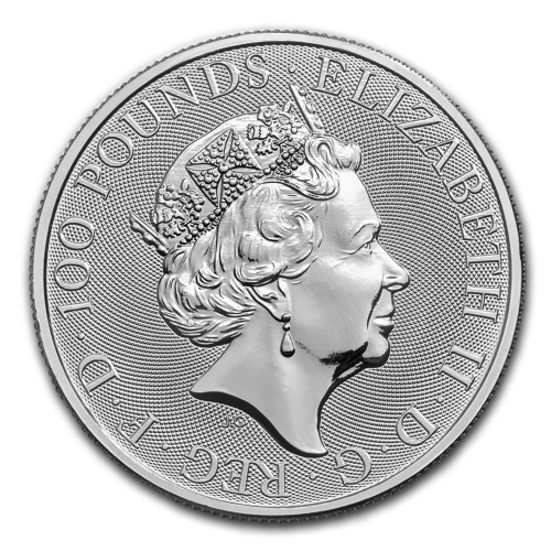 2018 Great Britain 1 oz Platinum Queen's Beasts The Griffin