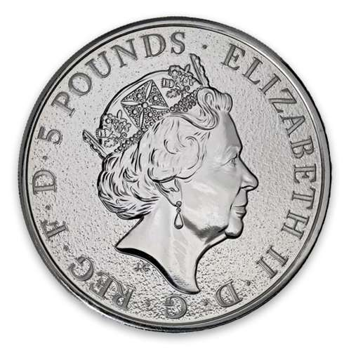 2016 2oz Silver Britain Queen's Beasts: The Lion