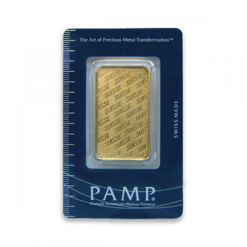 1oz PAMP Gold Bar - Suisse Repeater