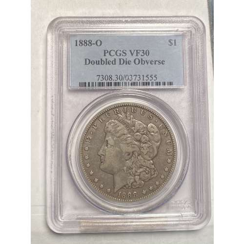 1888-O Doubled Die Obv  PCGS VF-30