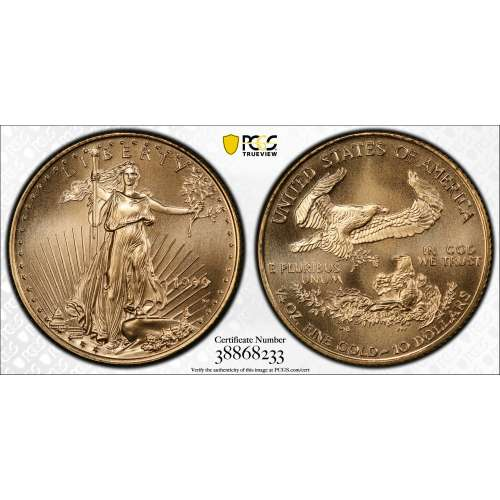 1999-W Gold Eagle, Unfinished Proof Dies  PCGS MS-70