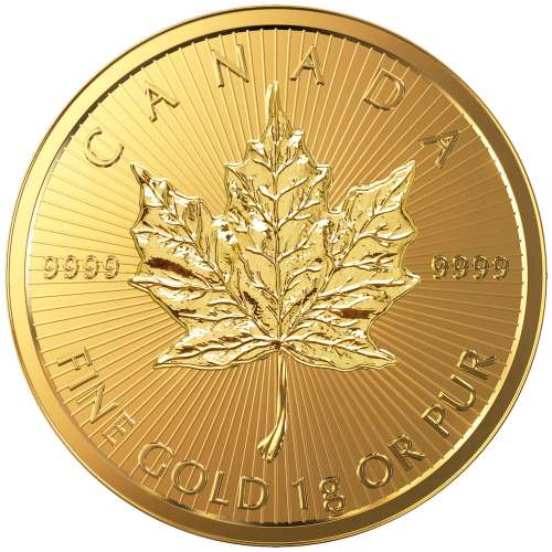 2017 1g Canadian Gold Maple Leaf