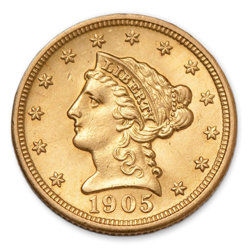 Liberty Head $2.5 (1840 - 1907) - XF