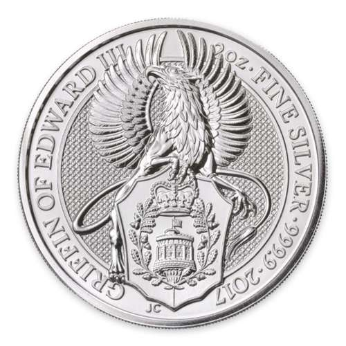 2017 2oz Silver Britain Queen's Beasts: The Griffin
