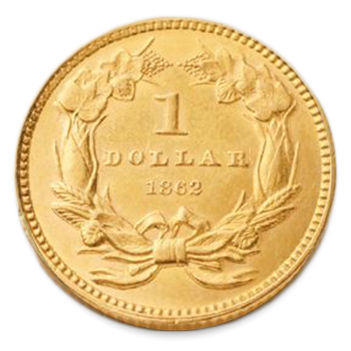 Gold Dollar (1849 - 1889) - XF