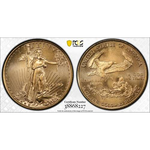 1999-W Gold Eagle, Unfinished Proof Dies  PCGS MS-69